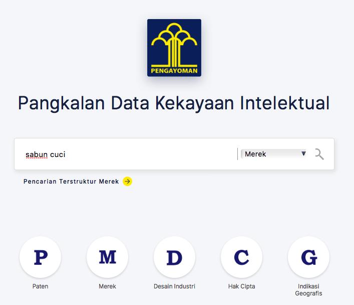 Pencarian Data Merek Terdaftar