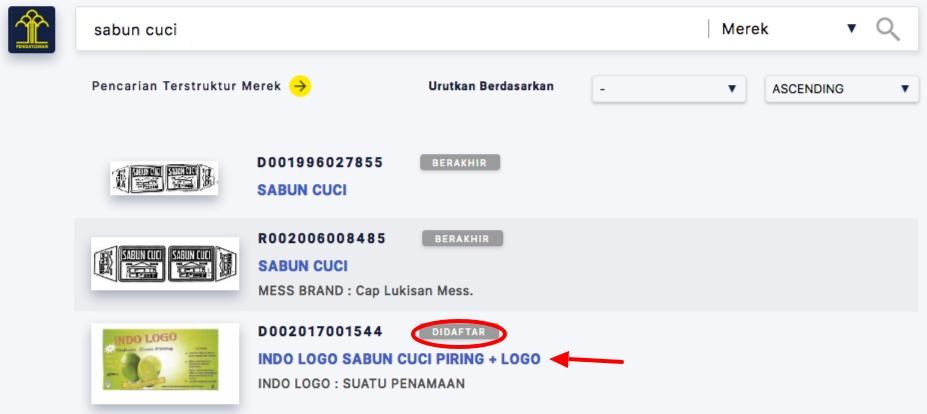Data Merek Terdaftar Kategori Sabun
