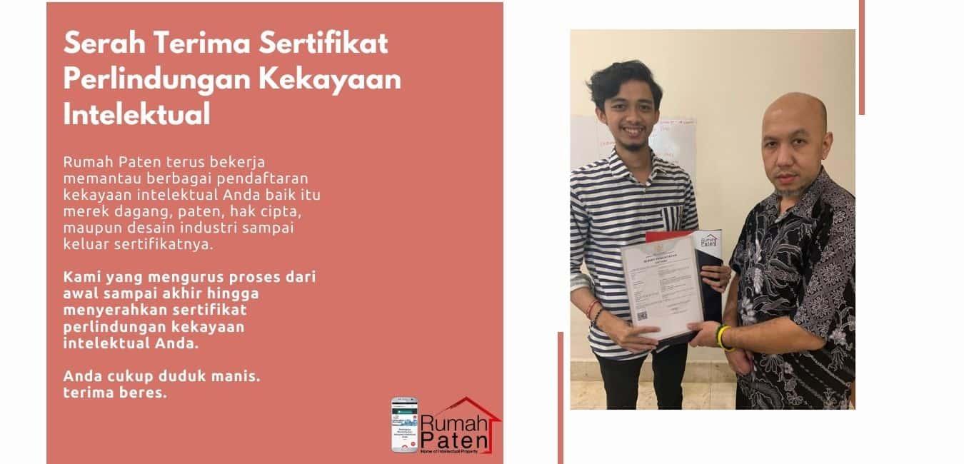 Serah terima sertifikat perlindungan kekayaan intelektual