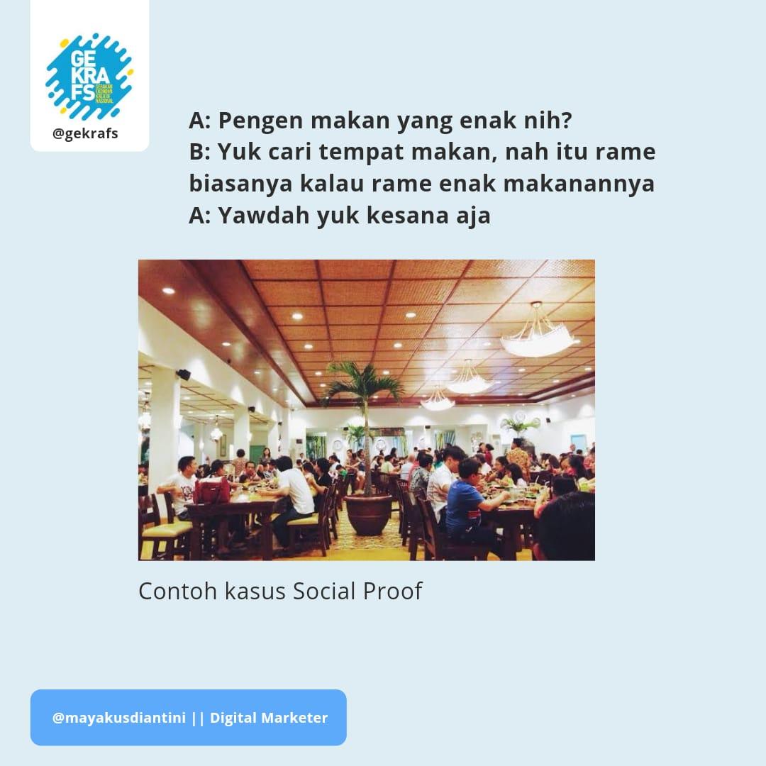 Social Proof Ramai Tempat Makan