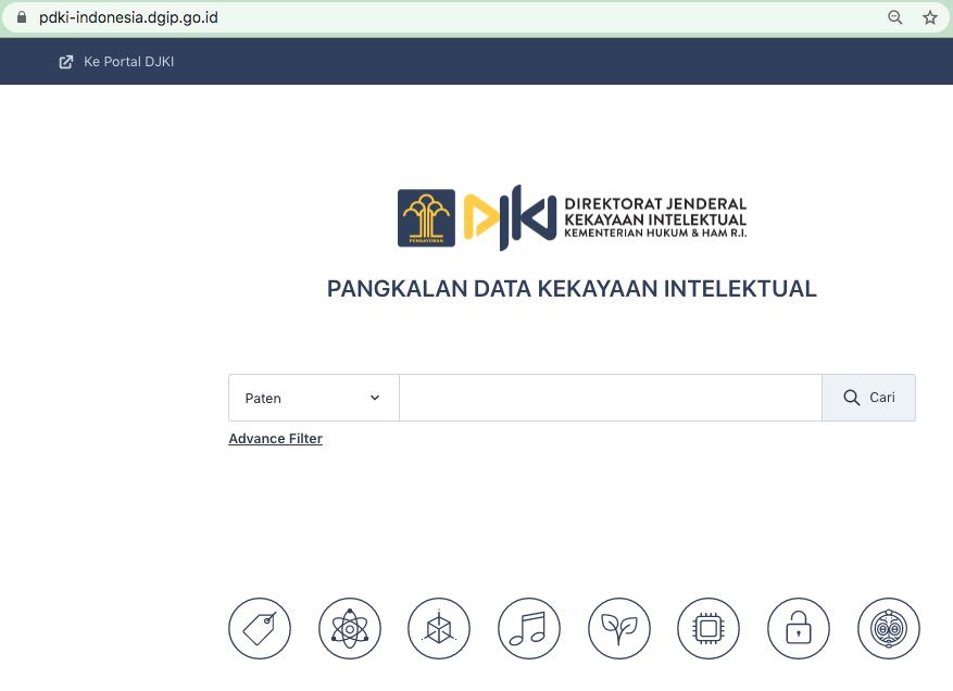 website untuk cek hak paten